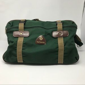 Samsonite Green Travel Carry On Tote Duffle Bag